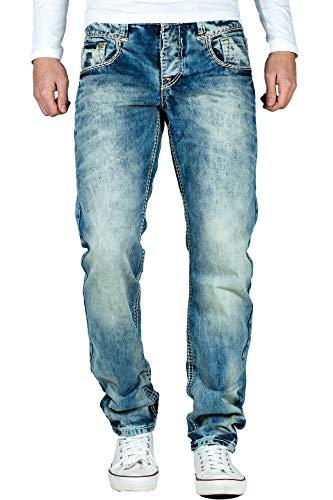 Cipo & Baxx Herren Jeans mit dicken Nähten C1149-bans W31/L32