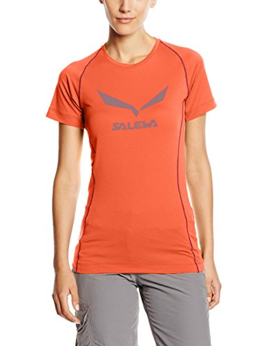 Salewa T-Shirt Solidlogo Dry pour Homme 44 Corail
