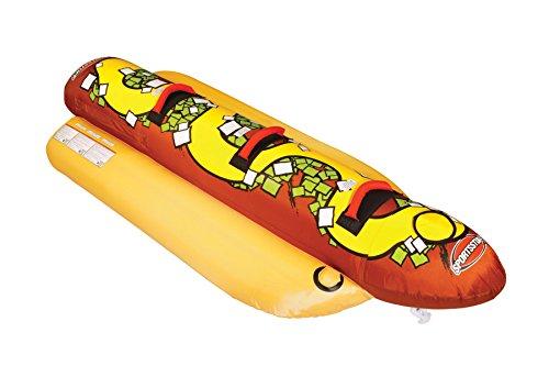 Sportsstuff Unisex's Hot Dog 3 Rider Towable Tube, Red, One Siz