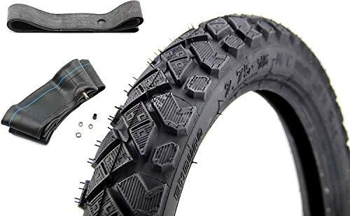 SET 1x Heidenau Enduro M/C Reifen 2,75 x 16 Zoll, 46M TT Profil K42 inklusive Felgenband und Schlauch für Simson
