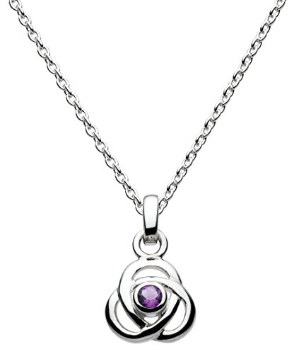 Heritage Sterling Silver and Amethyst Knot Necklace of Length 45.7 cm