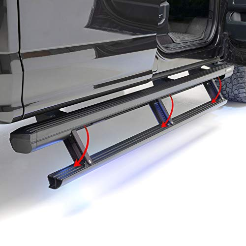 ARIES 3048321 ActionTrac 83-Inch Retractable Powered Running Boards, Select 2015-2020 Ford F-150, F-250, F-350, F-450, F-550 Crew Cab