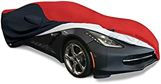 2014-2019 C7 Stingray, Z51, Z06, Grand Sport Corvette Ultraguard Plus Car Cover - Indoor/Outdoor Protection (Red/Black)
