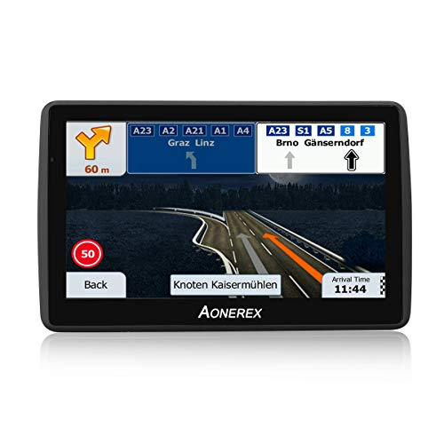 """GPS Navigation for Car, 7"""" Touch Screen 8GB Real Voice Spoken Turn-by-Turn Direction Reminding Navigation System for Cars, Vehicle GPS Satellite Navigator with Free Lifetime Map Update"""