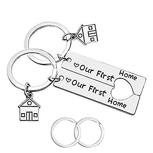 CNYMANY, 2 portachiavi per la casa, per la prima casa, regalo di inaugurazione della casa, gioiello per nuovi proprietari di casa, moglie marito, amante