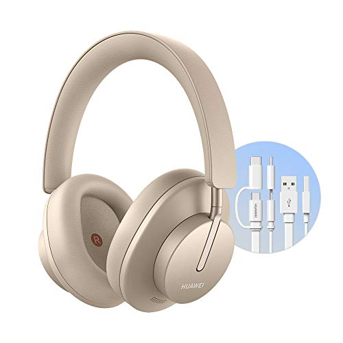 Huawei Freebuds - Auriculares inalámbricos con tecnología de cancelación dinámica e Inteligente del Ruido y Modo de Escucha, diseño de Doble Antena, Carga rápida, Color Dorado