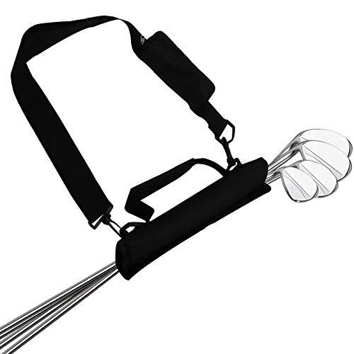 Sac De Golf Chariot Homme Femme Enfant Trepied Léger Mini Value Pack, Mallette de Formation pour Le Cours Conduite Sport Extérieur Violet Noir Bleu (1 Pack Noir)