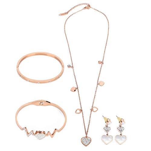 Conjunto de joyas de regalo, collar hipoalergénico firme para mujeres hermosas, para mujeres amigas