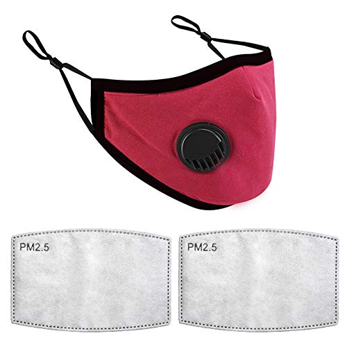 Reusable and Breathable, Face Bandanas, Anti-Haze Dust, for Kids (1Pc+ 2Pcs Filters)