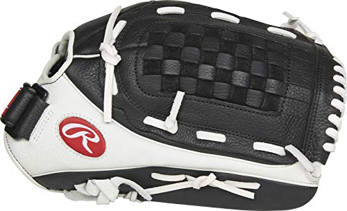 Rawlings Shut Out Series Youth Softball Glove, 13 inch, Basket Web, Right Hand Throw (RSO130BW-3/0 13 BSK/FLCV)