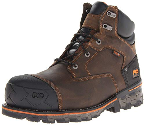 Timberland PRO Men's Boondock 6 inch Waterproof Non-Insulated Work Boot,Brown Oiled Distressed,14 W US