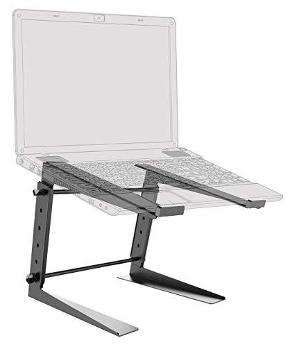 RICOO Laptop-Ständer Höhenverstellbar Notebook-Halterung Tisch-Stand-Fuss (LS01-B) Universal für 15-17 Zoll bis 3-Kg Bildschirm-Erhöhung DJ Mischpult Laptop-Halter
