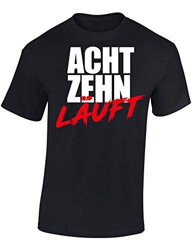 Geburtstags Shirt: 18 Läuft - Achtzehn-TER Geburtstag T-Shirt - Geschenk zum 18. - Frau-en - Mann Männer - Damen & Herren - Lustig - Birthday - Jahrgang 2003 - Jahre - Witzig (L)