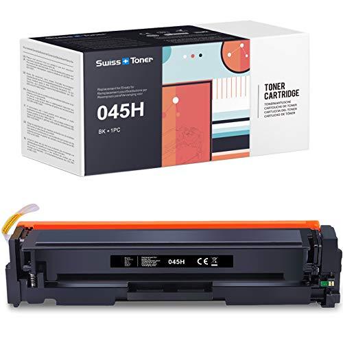 SWISS TONER 1 Schwarz 045H Tonerkartusche Kompatibel für Canon 045H 045 für Canon i-Sensys LBP611Cn LBP613Cdw MF631Cn MF633Cdw MF635Cx imageCLASS MF634Cdw MF632Cdw LBP612Cdw Drucker