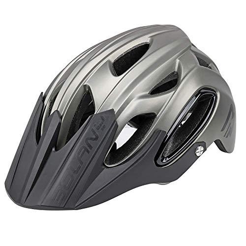 Unisex Casco de la bici, ajustable Hombres Mujeres La Montaña Ciclismo Casco de la bicicleta con el visera, Adulto Casco de deportes, cascos for ciclistas con envuelta PC Edge, hermoso y duradero 58-6