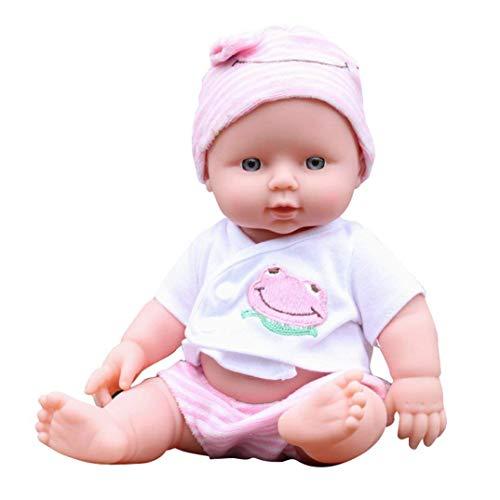 vinmax Soft Body Play Doll Vinyl Silicone Lifelike Sound Laugh Cry Real Newborn Baby Doll for Boys Girls Birthday Gift