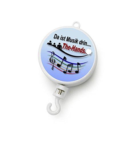 Dreh Spieluhr mit Motor Spielwerk weiß mit Melodiewahl für Musik Mobiles (Melodie Schwedisches Kinderlied)