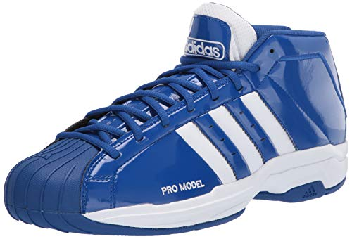 adidas Unisex Pro Model 2G Basketball Shoe, Team Royal Blue/FTWR White/Team Royal Blue, 9 US Men