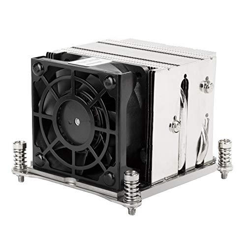 Silverstone XE02-2066, Disipador para CPU de Servidor/estación de Trabajo 2U con Factor de Forma pequeño para zócalos Intel LGA 2011/2066 Square & Narrow, SST-XE02-2066