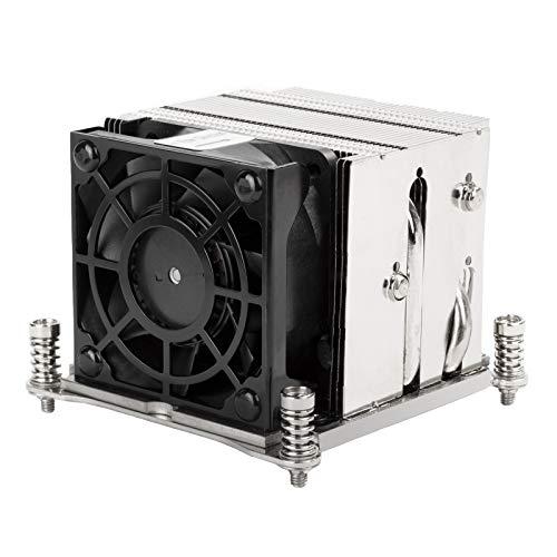 SilverStone Technology XE02-2066, Disipador para CPU de Servidor/estación de Trabajo 2U con Factor de Forma pequeño para zócalos Intel LGA 2011/2066 Square & Narrow, SST-XE02-2066