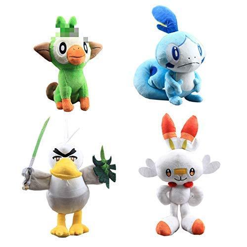 DINGX Plüschspielzeug 4 Stück/Satz 21-36 cm Anime Plüschspielzeug Gefüllte Puppe Pikachu Eevee Serie Puppe Kinder Frauen Geschenk Chuangze