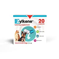 Zylkene (75mg) is a calming supplement for cats and small dogs (up to 10kg) to help them cope with stressful situations inside and outside the home such as fireworks and separation anxiety when left home alone. UK's No. 1 Veterinary Calming Supplemen...