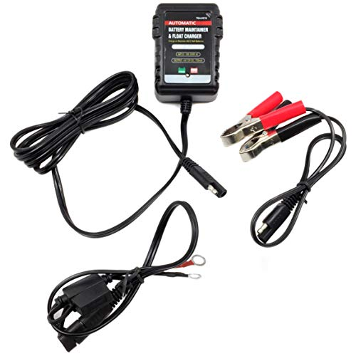 AUTOMATIC SMART BATTERY CHARGER   Monitor/Maintain/Trickle/Float Storage   Motorcycle, Car, ATV,...