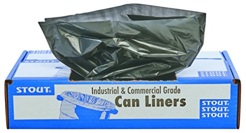 Best Review Of Stout by Envision Commerical 33 Gallon Can Liners - 100 Bags - 1.5 mil Heavy Duty Ind...