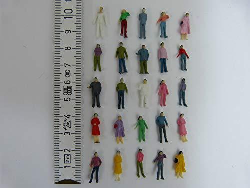 100 stehende Figuren Reisende Passanten Modellbahn H0