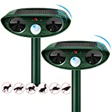 Ultrasonic Cat Repellent, prabensei Cat Dog Scarer Repellant, Ultrasonic Scarer Deterrent, Solar Powered&Waterproof Cat Dog Fox Rat Scarer Repeller for Gardens Yard Farm,Unique Dad Present (2 Packs)
