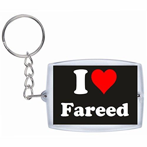 EXCLUSIVO: Llavero 'I Love Fareed' en Negro, una gran idea...
