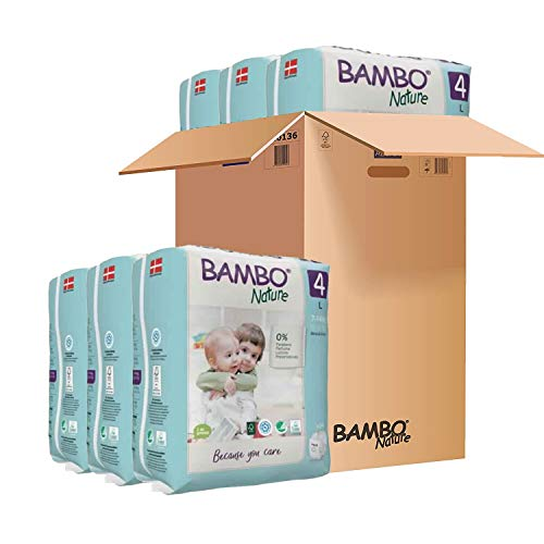 Pañales Bambo Nature Talla 4 – 7 a 14kg (PACK 6 x 24UN)