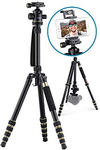 HUTACT Treppiede Videocamera, Portatile Per Fotocamera, kit mono piede & testa a sfera compatto per Canon Sony, Nikon, Samsung, Panasonic, Olympus, Kodak, Fuji, fotocamere