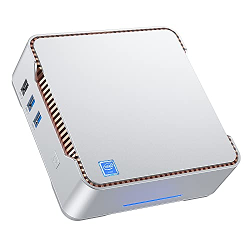 Mini PC 8GB DDR4 / 256GB ROM Intel Celeron J4125 Procesador Windows 10 Pro Micro Ordenador de Sobremesa, Soporte de Triple Pantalla Gigabit Ethernet, Dual Band, Bluetooth 4.2, 4K HD