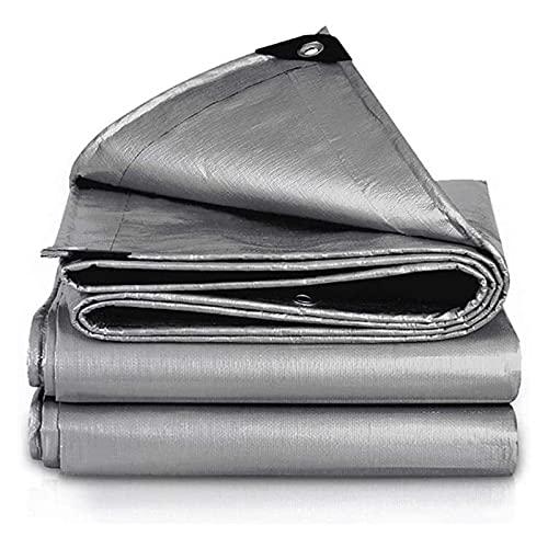 Lona Impermeable, Bordes Reforzados con Tela para Parasol, Lona de PE Multiusos Resistente Al Desgarro, Lona de Protección con ojales para Muebles, Trampolín de jardín, Camping, Automóviles(Size:4