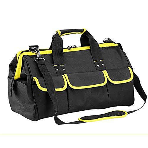 Bolsa de herramientas, 18 bolsillos,bolsa de herramientas plegable con bolsillo interno para almacenar herramientas y almohadilla de goma inferior antideslizante,correa de hombro ajustable,bolsa