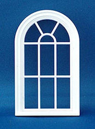 Melody Jane Casa de muñecas Ventana arqueada 1:24 Escala de Media Pulgada Plástico Blanco Estilo Victoriano
