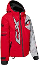 Castle X Stance Youth Snowmobile Winter Jacket - Red/Alpha Gray/Dark Gray (LRG)