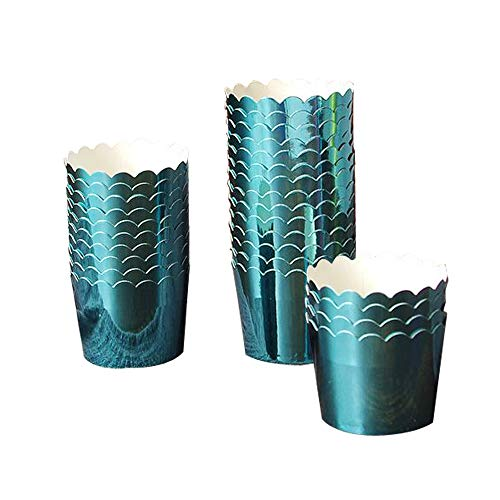 50 Pcs Paper Cupcake Liners Baking Cups, Holiday/Parties/Wedding/Anniversary(Bule)