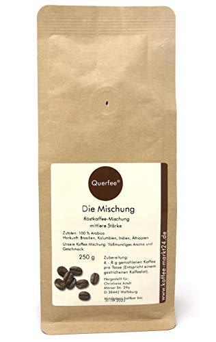 Querfee Kaffee Mischung aus 100% Arabica Kaffeebohnen - Für French Press & Kaffee Vollautomaten - Ganze Bohnen (250 g)