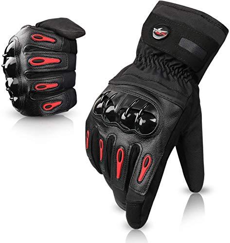 Greatever グローブ 手袋 バイク用グローブ タッチパネル対応 防寒対策 裏起毛 防風 防水 オートバイ 自転車 サイクル 登山 スキー メンズ