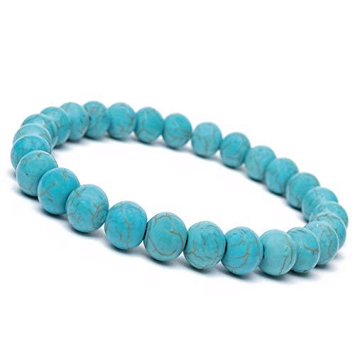 KÜSTENSEE   Premium Perlenarmband für Herren – DE Versand   Chakra Armband für Männer   Edelstein Armbänder – Türkis