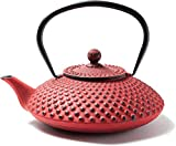 Cast Iron Teapots Cast Iron –Teapot Cast Iron With Stainless Steel Infuser – Fully Enamelled Inside Brews A Perfect Cup Of Tea 1250 Ml Red