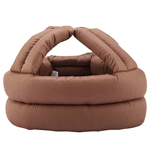 Duokon Sombrero Protector para Ancianos Gorra para la Cabeza Casco de Seguridad Anciano anticolisión Prevención de caídas con Encaje(marrón) 🔥
