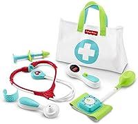 """Kit da dottore per bambini che aiuta i più piccoli a sviluppare abitudini sane e a condividere, dando una spinta all'immaginazione La valigetta da medico per bimbo include un termometro con pulsante per far passare il display da """"malato"""" a """"guarito"""" ..."""