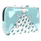 Bolsa de maquillaje portátil con cremallera bolsa de aseo de viaje para las mujeres práctico almacenamiento cosmético bolsa de conejo falda