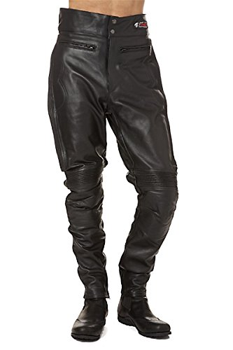 Zerimar Pantalón Hombre | Pantalón de Cuero Hombre | Pantalones Hombre Moto | Pantalón con Protecciones Moto | Pantalones para Moto