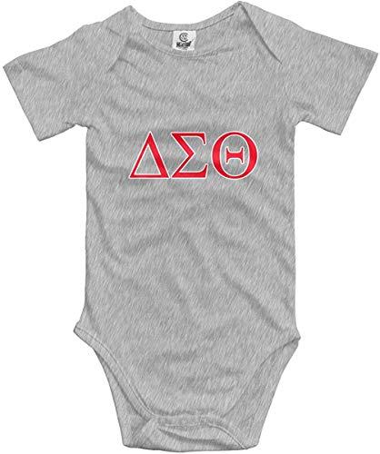 Delta-Sigma-Theta Infant Baby Girl Boy Romper Jumpsuit Clothes Toddler Sleepwear Gray