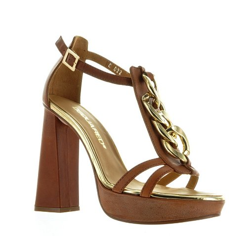 Dsquared Brown Real Leather Shoes, 38, Brown
