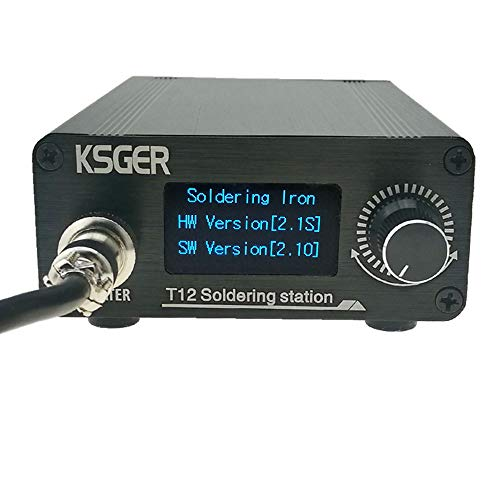 KSGER T12 Soldering Station STM32 V2.1S OLED T12 Iron Tips DIY Kits Temperature Controller Electronic Welding Iron Tips FX9501 Handle Case Power Equipments Sting